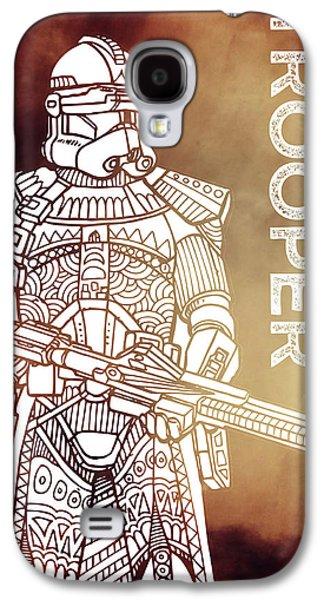 Stormtrooper - Star Wars Art - Brown Galaxy S4 Case