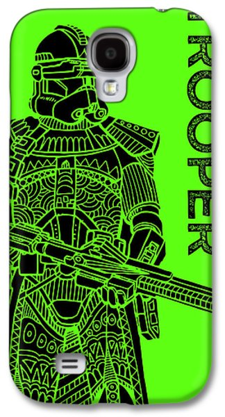 Stormtrooper - Green - Star Wars Art Galaxy S4 Case