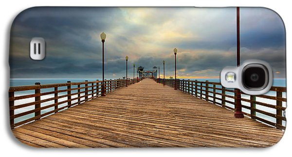 Stormy Oceanside Sunset Galaxy S4 Case by Larry Marshall