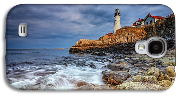 Stormy Skies At Portland Head Galaxy S4 Case by Rick Berk