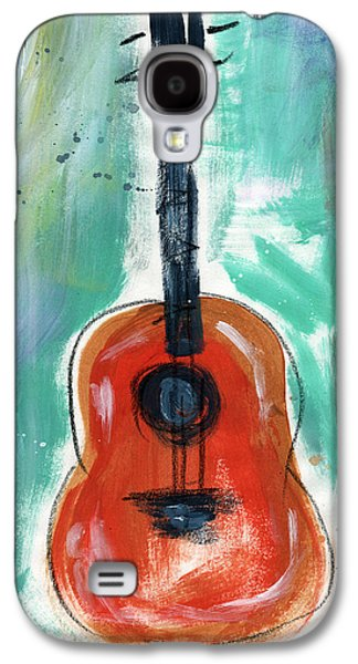 Rock And Roll Galaxy S4 Case - Storyteller's Guitar by Linda Woods