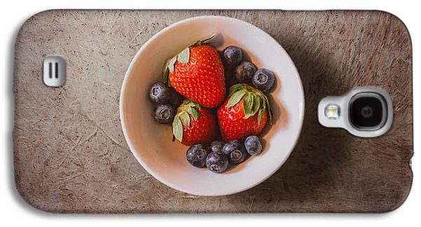 Strawberries And Blueberries Galaxy S4 Case by Scott Norris