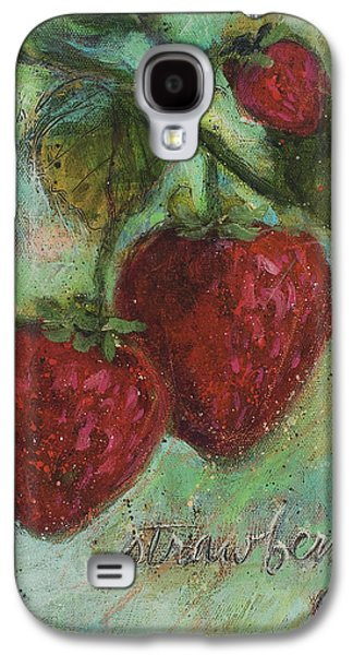Strawberries Galaxy S4 Case by Jen Norton
