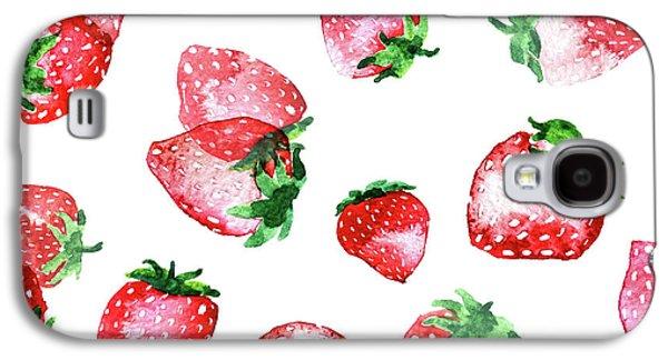Strawberries Galaxy S4 Case by Varpu Kronholm