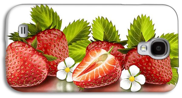 Strawberries Galaxy S4 Case by Veronica Minozzi