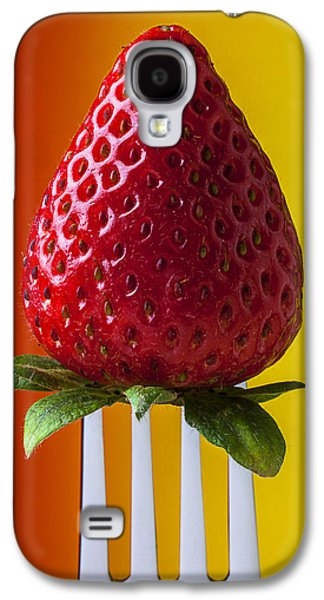 Strawberry On Fork Galaxy S4 Case by Garry Gay