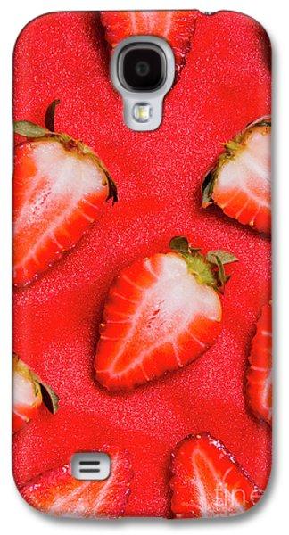 Studio Galaxy S4 Case - Strawberry Slice Food Still Life by Jorgo Photography - Wall Art Gallery
