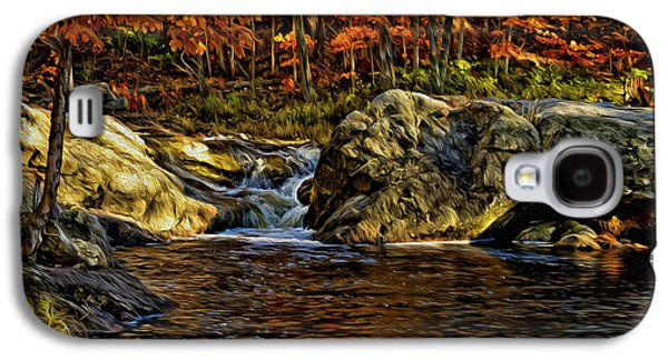Stream In Autumn 57 In Oil Galaxy S4 Case by Mark Myhaver