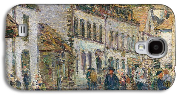 Street In Pont Aven Galaxy S4 Case by Childe Hassam