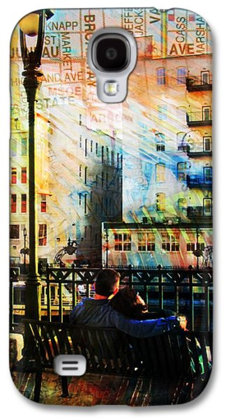 Street Lamp Bench Abstract W Map Galaxy S4 Case