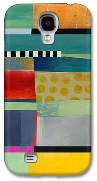 Stripe Assemblage 2 Galaxy S4 Case by Jane Davies