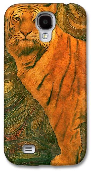 Striped Cat Galaxy S4 Case by Jack Zulli