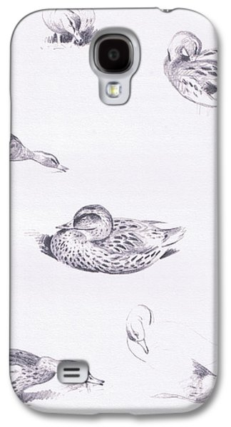 Studies Of Mallard Ducks Galaxy S4 Case