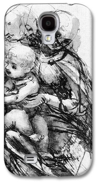 Study For A Madonna With A Cat Galaxy S4 Case