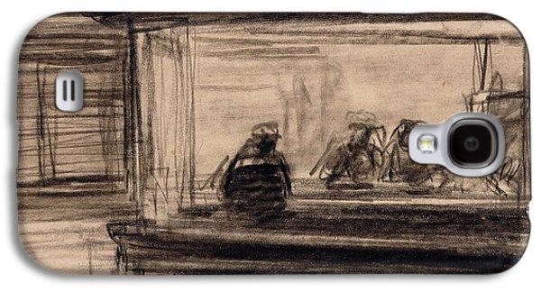 Study For Nighthawks Galaxy S4 Case by Edward Hopper