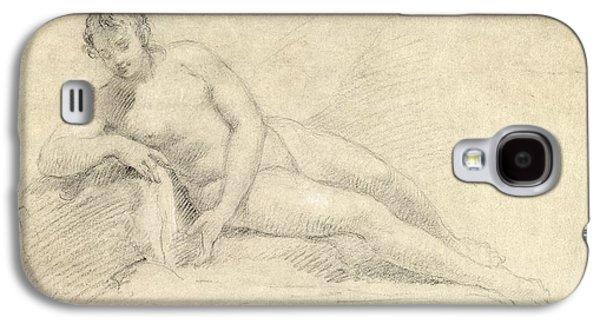 Study Of A Female Nude  Galaxy S4 Case by William Hogarth