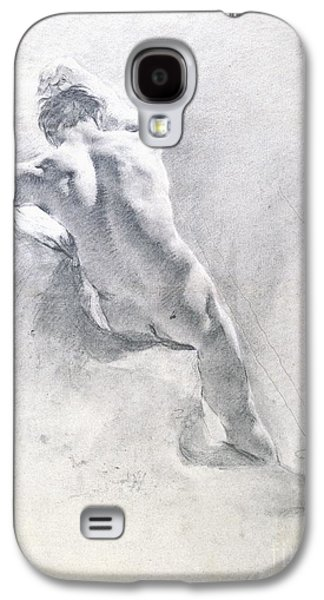 Nudes Pastels Galaxy S4 Cases - Study of a male nude Galaxy S4 Case by  Giambattista Piazzetta