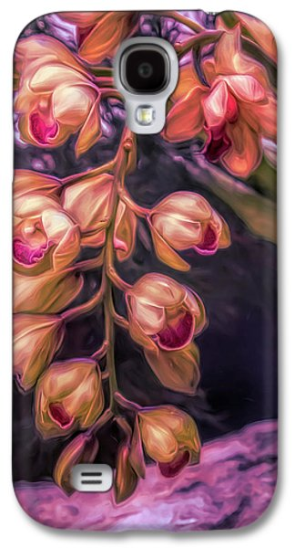 Orchid Galaxy S4 Case - Stylized Orchids by Tom Mc Nemar