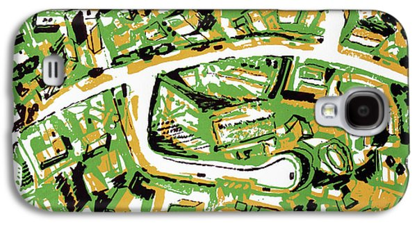 Suburb With Roads Galaxy S4 Case by Toni Silber-Delerive
