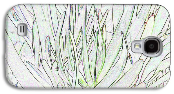 Succulent Leaves In High Key Galaxy S4 Case by Nareeta Martin