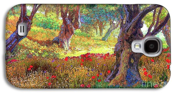 Tranquil Grove Of Poppies And Olive Trees Galaxy S4 Case