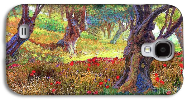 Daisy Galaxy S4 Case - Tranquil Grove Of Poppies And Olive Trees by Jane Small
