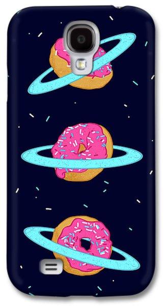 Sugar Rings Of Saturn Galaxy S4 Case by Evgenia Chuvardina