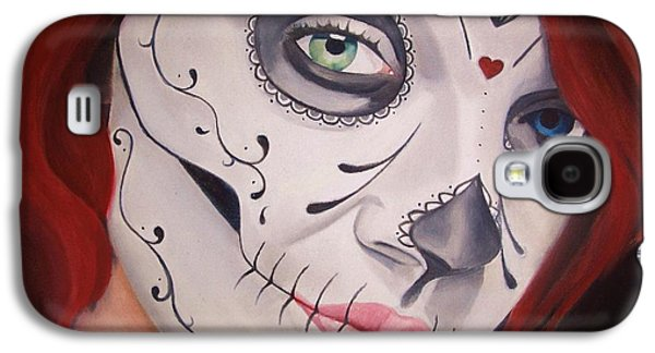 Sugar Skull Girl #1 Galaxy S4 Case by Brian Broadway