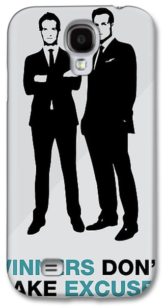 Suits Tv Show Poster Harvey Quote - Winners Don't Make Excuses Galaxy S4 Case