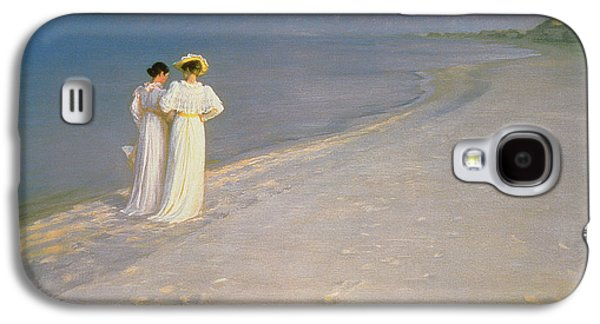 Summer Evening On The Skagen Southern Beach With Anna Ancher And Marie Kroyer Galaxy S4 Case