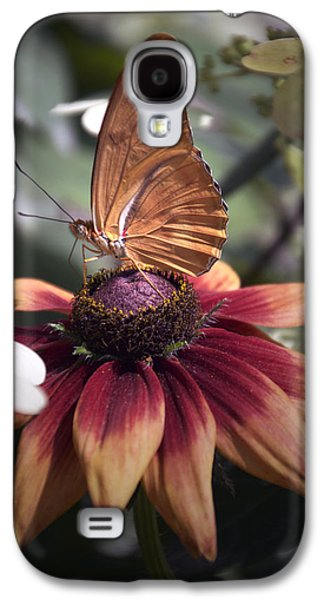 Summer Floral With Butterfly 03 Vertical Galaxy S4 Case by Thomas Woolworth
