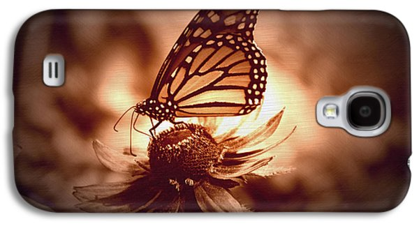 Summer Floral With Monarch Butterfly 01 Galaxy S4 Case by Thomas Woolworth