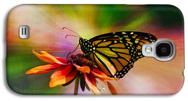 Summer Floral With Monarch Butterfly 03 Prism Galaxy S4 Case by Thomas Woolworth