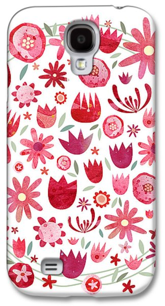 Summer Flower Circle Galaxy S4 Case by Nic Squirrell