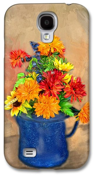 Summer Flowers Galaxy S4 Case by Mary Timman
