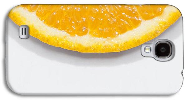 Summer Fruit Orange Slice On Studio Copyspace Galaxy S4 Case by Jorgo Photography - Wall Art Gallery