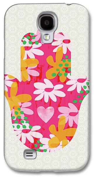 Bat Galaxy S4 Case - Summer Garden Hamsa- Art By Linda Woods by Linda Woods