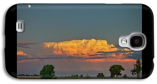 Galaxy S4 Case featuring the photograph Summer Night Storms Brewing And Moon Above by James BO Insogna