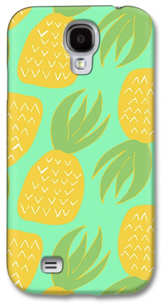 Summer Pineapples Galaxy S4 Case by Allyson Johnson