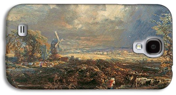 Summer Storm Near Pulborough, Sussex Galaxy S4 Case by Samuel Palmer