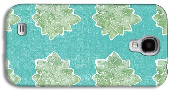 Summer Succulents- Art By Linda Woods Galaxy S4 Case by Linda Woods