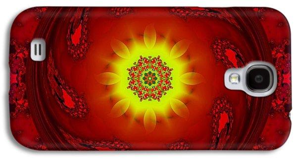 Sun/flower Mandala Galaxy S4 Case by Elizabeth McTaggart