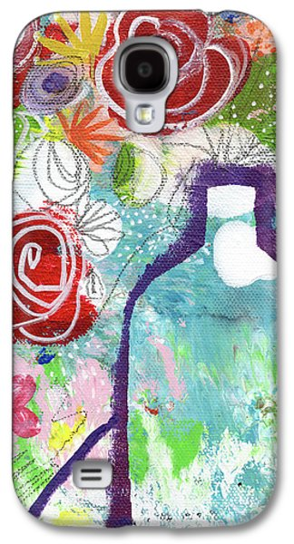 Sunday Market Flowers 2- Art By Linda Woods Galaxy S4 Case by Linda Woods