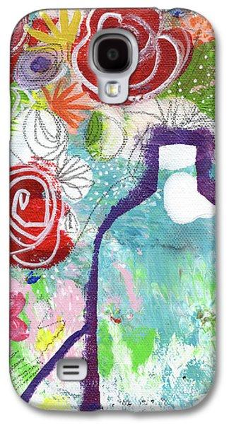 Sunday Market Flowers 2- Art By Linda Woods Galaxy S4 Case