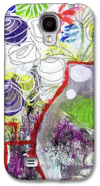 Sunday Market Flowers 3- Art By Linda Woods Galaxy S4 Case