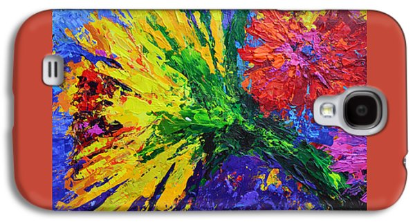 Sunflower And A Peony Galaxy S4 Case by Patricia Awapara