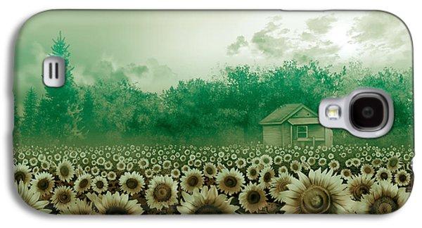 Sunflower Field Green Galaxy S4 Case