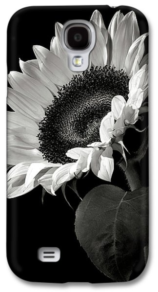 Galaxy S4 Case - Sunflower In Black And White by Endre Balogh