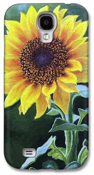 Sunflower Galaxy S4 Case by Janet King