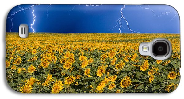 Sunflower Lightning Field  Galaxy S4 Case by James BO  Insogna